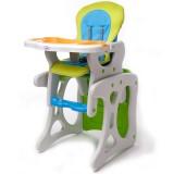 Scaun de masa Juju Eat&Play verde albastru