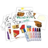 Set puzzle cu abtibilduri Crayola