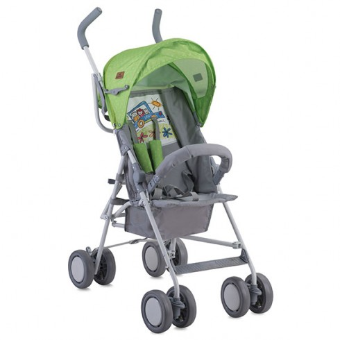 Carucior Bertoni - Lorelli Trek green & grey car