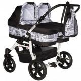 Carucior Pj Baby Pj Stroller 2 in 1 black