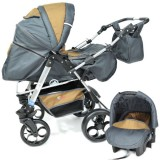 Carucior Skutt Rocada 2 in 1 graphite brown