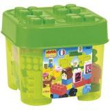 Set cuburi de constructie Ecoiffier Abrick verde