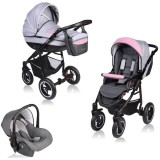 Carucior Vessanti Crooner 3 in 1 pink gray