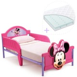 Pachet Patut Delta Children Disney Minnie Mouse 3D si Saltea Dreamily