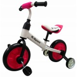 Bicicleta cu roti ajutatoare R-Sport P1 roz