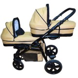 Carucior Pj Baby Pj Stroller Lux 3 in 1 cafe cream