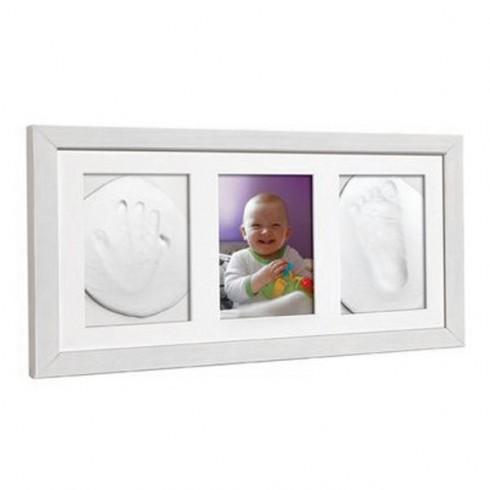 Kit mulaj amprenta Baby HandPrint Double Memory Frame white