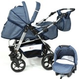 Carucior Skutt Rocada 2 in 1 navy white
