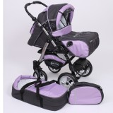 Carucior Baby Merc Junior Plus 2 in 1 Graphite violet