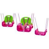 Leagan Babygo transformabil 3 in 1 pink green