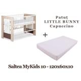 Patut Klups Little Bunny capuccino si Saltea MyKids Basic II 10 cm