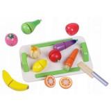 Set fructe si legume din lemn Ecotoys 4309