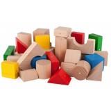 Blocuri din lemn magnetice Kooglo 30 piese multicolore