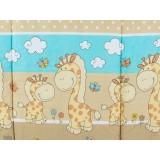 Perna de alaptat MyKids Happy Giraffe multifunctionala C maro