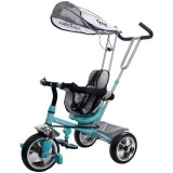 Tricicleta cu copertina Sun Baby Super Trike turcoaz