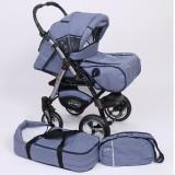 Carucior Baby Merc Junior Plus 2 in 1 Blue jeans