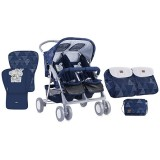 Carucior Bertoni - Lorelli Twin dark blue friends