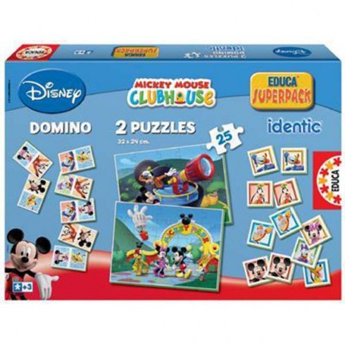 Joc Educa Mickey Mouse Clubhouse 3 in 1