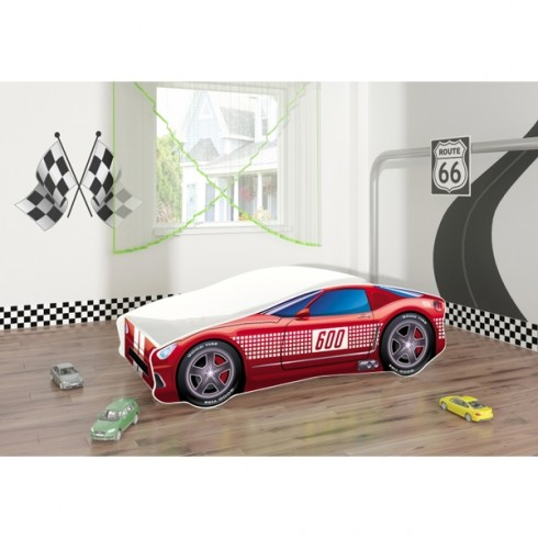 Paut tineret MyKids Race Car 01 Red 140x70