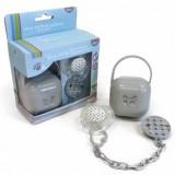 Set Thermobaby suzeta cu accesorii grey