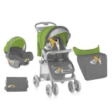 Carucior Bertoni - Lorelli Foxy 2 in 1 green & grey Safari 2015