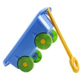 Carucior pentru jucarii Marmat albastru