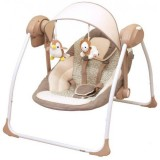 Scaunel balansoar Baby Mix Peaceful Dreams cu conectare la priza brown