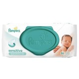 Servetele umede Pampers Sensitive cu capac 56 buc