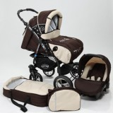 Carucior Baby Merc Junior Plus 3 in 1 Brown beige