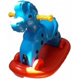 Calut balansoar Super Plastic Toys Speedy cu roti blue