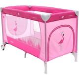 Patut pliabil cu doua nivele Coto Baby Samba Plus roz