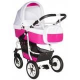 Carucior Pj Baby Pj Stroller Comfort 2 in 1 white pink