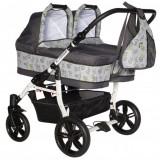 Carucior Pj Baby Pj Stroller 2 in 1 grey