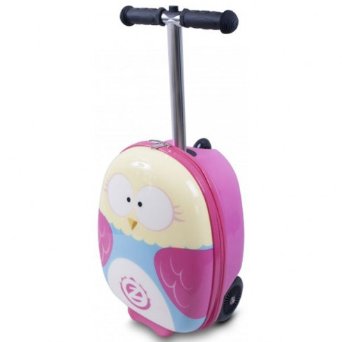 Trotineta cu rucsac Zinc Flyte scooter & case 2 in 1 Olivia the Owl pink