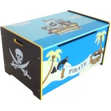 Ladita Style Pirate Treasure Chest blue