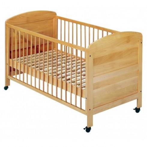 Patut copii din lemn Easy Baby 70x140 cm natur