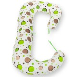 Perna de alaptat BabyNeeds Soft Plus 3 in 1 bulinute verzi