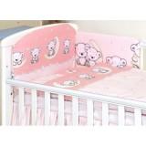 Lenjerie patut Amy Teddy Bear 120x60 cm Pink