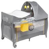Patut pliabil Lionelo Sven Plus cu sistem de leganare yellow scandi