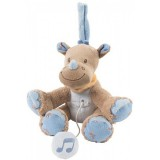 Jucarie muzicala plus Nattou Rinocerul Louis 18 cm