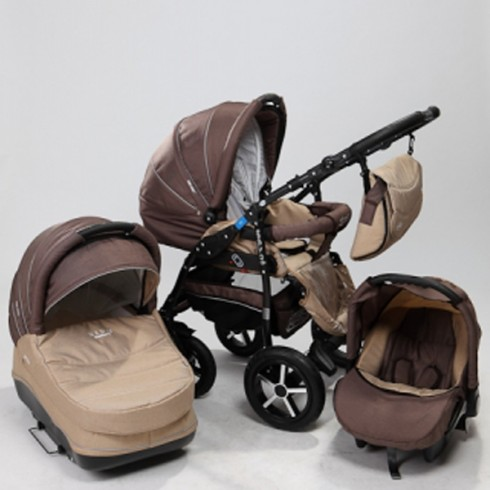 Carucior Baby Merc Zipy 3 in 1 brown beige