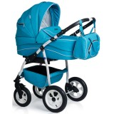Carucior MyKids Germany 3 in 1 blue deschis