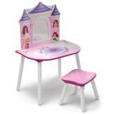 Masuta de frumusete cu scaunel Delta Children Printesele Disney