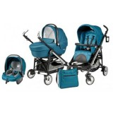 Carucior Peg Perego Pliko Switch Four Sportivo 3 in 1 oceano