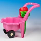 Galetusa pe roti Marmat cu lopatica si grebla roz