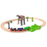 Set din lemn Eichhorn Tren cu sina ovala si accesorii {WWWWWproduct_manufacturerWWWWW}ZZZZZ]