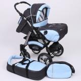 Carucior Baby Merc Junior Plus 2 in 1 Graphite light blue
