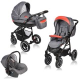 Carucior Vessanti Crooner 3 in 1 red gray
