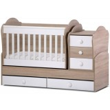 Patut transformabil Ilbambino Laddy oak white