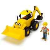 Excavator Dickie Toys Bob Constructorul Action Team Scoop cu 1 figurina Bob